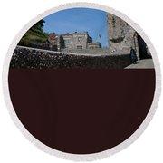 Lewes Castle Round Beach Towel