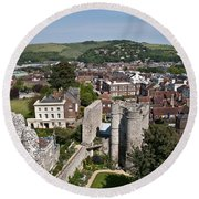 Lewes East Sussex Round Beach Towel