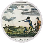 Lewis & Clark: Native American, 1811 Round Beach Towel