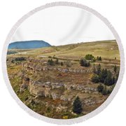 Lewis And Clark Park  Round Beach Towel