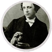 Lewis Carroll, English Author Round Beach Towel by Photo Researchers