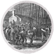 Liberating Slaves, 1864 Round Beach Towel