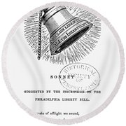 Liberty Bell, 1839 Round Beach Towel