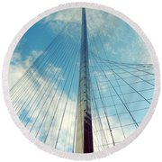 Liberty Pole Round Beach Towel
