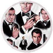 Licence To Kill  Digital Round Beach Towel by Andrew Read