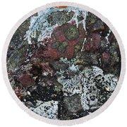 Lichen Abstract II Round Beach Towel