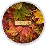 Life-autumn Round Beach Towel