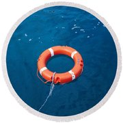 Life Buoy Round Beach Towel