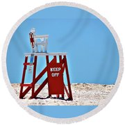 Life Guard Stand Round Beach Towel