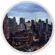 Life In The Big City Round Beach Towel