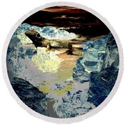Life In The Tidepools Round Beach Towel