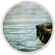 Life Is Bigger Round Beach Towel by Laurie Search