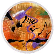 Life Unrestrained Round Beach Towel