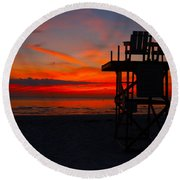 Lifeguard Off Duty Round Beach Towel