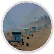 Lifeguard Stations Round Beach Towel