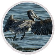 Lift Off Round Beach Towel