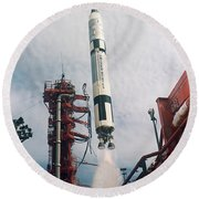 Lift-off Of Gemini-titan 11, Cape Round Beach Towel