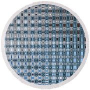 Light Blue And Gray Abstract Round Beach Towel