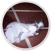 Light Bulb Smashing Round Beach Towel