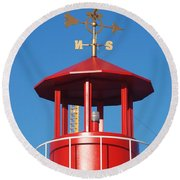 Light House On Coney Island Round Beach Towel