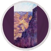 Light In The Canyon Round Beach Towel
