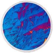 Light Micrograph Of Didanosine Ddi Round Beach Towel