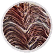 Light Micrograph Of Smooth Muscle Tissue Round Beach Towel