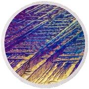 Light Micrograph Of Zalcitabine Ddc Round Beach Towel