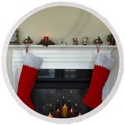 Light Of Christmas Round Beach Towel