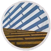 Light Struck Round Beach Towel
