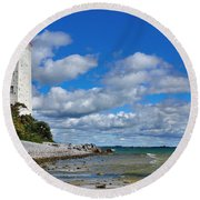 Lighthouse Dream Round Beach Towel