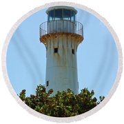 Lighthouse On Grand Turk 2 Round Beach Towel
