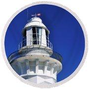 Lighthouse Turret Round Beach Towel