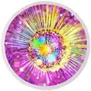 Lighting Effects And Graphic Design Round Beach Towel