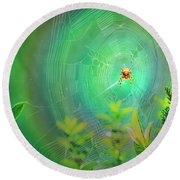 Lightning Spider Round Beach Towel