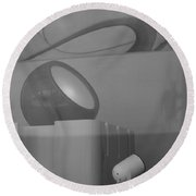 Lights And Reflections Round Beach Towel
