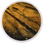 Lights And Shadows Round Beach Towel