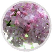 Lilac Blooms Round Beach Towel