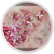 Lilacs And Wegia Round Beach Towel