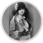 Lillian Gish 1922 Round Beach Towel
