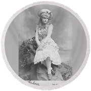 Lillian Russell 1882 Round Beach Towel