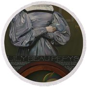 Lily Beau Pepys Round Beach Towel by Patrick Anthony Pierson