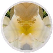 Lily Cloud Round Beach Towel
