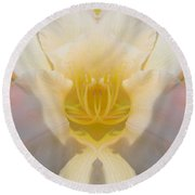 Lily Clouds Round Beach Towel