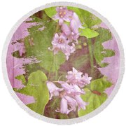 Lily Of The Valley - In The Pink #3 Round Beach Towel