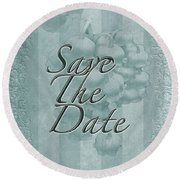 Lily Of The Valley Save The Date Greeting Card Round Beach Towel