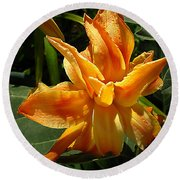 Lily Survival Round Beach Towel