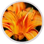 Lily Round Beach Towel