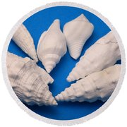 Lime Made From Seashells Round Beach Towel