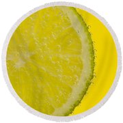Lime Slice Soda 1 Round Beach Towel